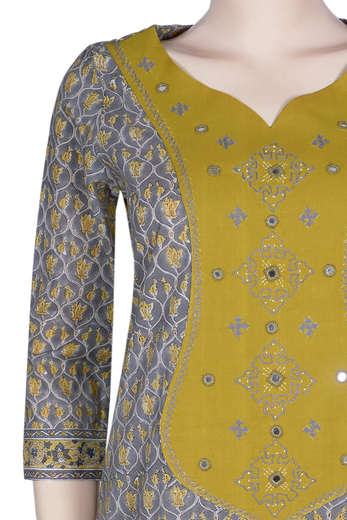Okhai 'Garden Grace' Embroidered Cotton Kurta