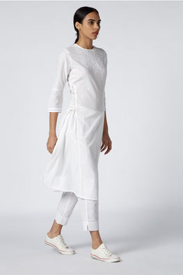Okhai 'Shira' Organic Cotton Cambric Kurta