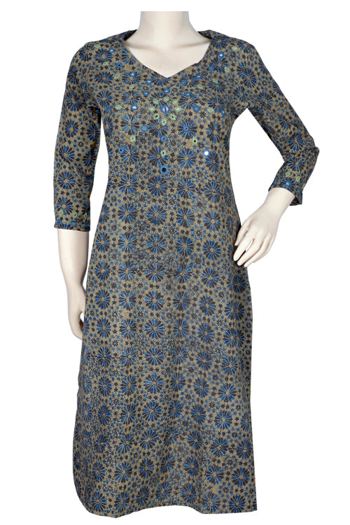 Okhai 'Happy Hue' Ajrakh Cotton Kurta