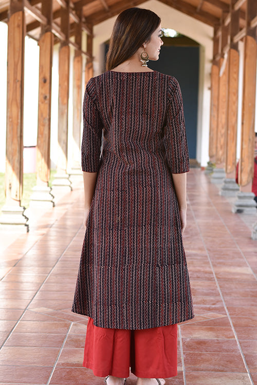 Okhai 'Perennial Poise' Blockprint Dress