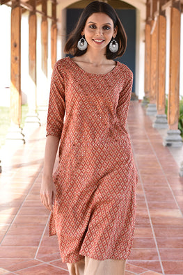 Okhai 'Kiln Of Love' Cotton Embroidered Kurta