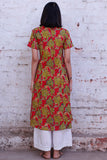 Okhai 'Fresh Trees' Cotton Hand Block Printed Kurta