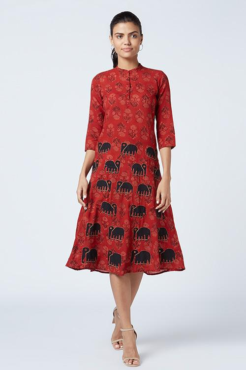 Okhai 'Icon' Appliqué Cotton Mul Dress