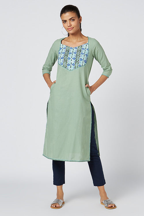 Okhai 'Elfina' Embroidered Cotton Kurta