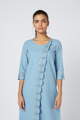 Okhai 'Apsara' Embroidered Cotton Kurta