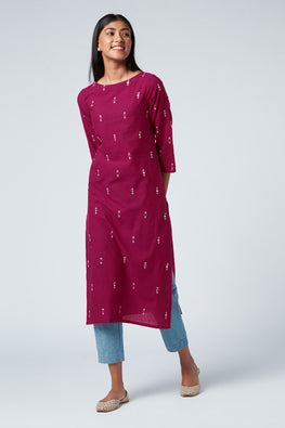 Okhai 'Passion' Embroidered Cotton Kurta