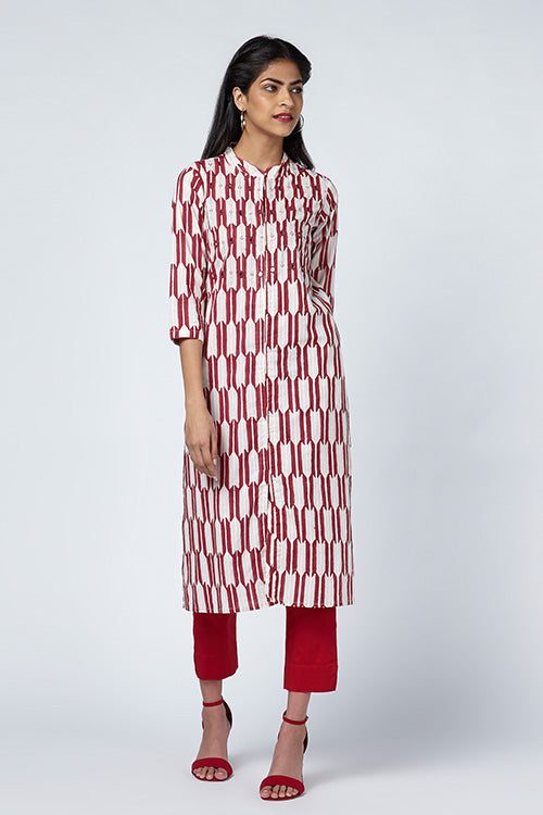 Okhai Arrow Hand Block Print Kurti For Women Online