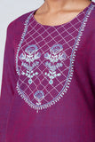 Okhai 'Wisteria' Embroidered Cotton Kurta