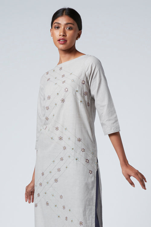 Okhai 'Glory' Cotton Embroidered Kurta