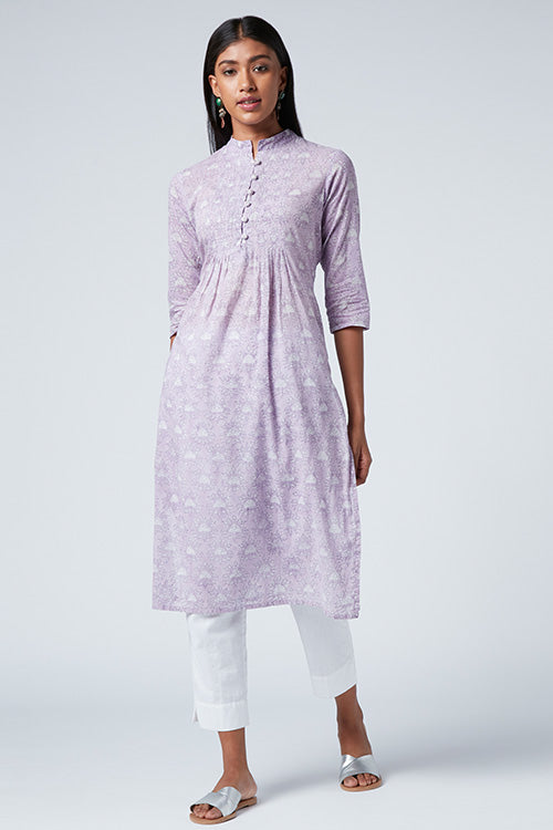 Okhai Pristine Hand Block Printed Mul Cotton Kurtas For Women Online