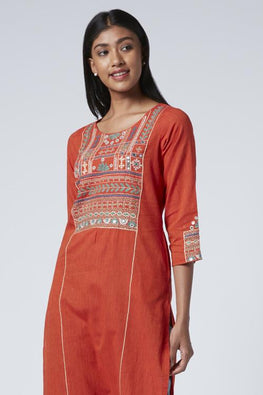 Okhai 'Rabari' Embroidered Cotton Kurta