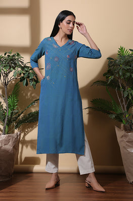 Okhai 'Twilight' Hand Embroidered Pure Cotton Dress