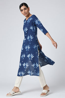 Okhai Nadia Indigo Cotton Kurti For Women Online