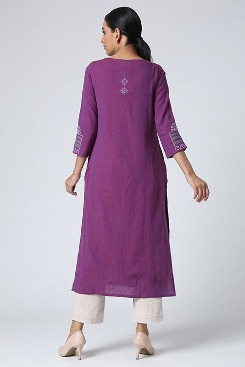 Okhai 'Gauhar' Pure Cotton Hand Embroidery Kurta