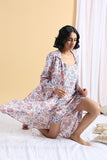 Okhai Serenity Hand Block Printed Pure Cotton Night Suit For Ladies Online