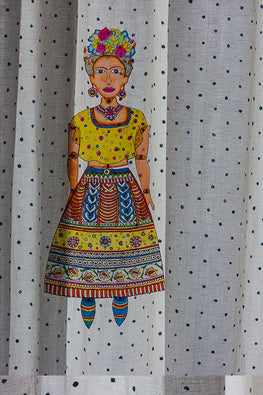 StudioMoya 'Frida' Contemporary Leather Puppet Wall Hanging
