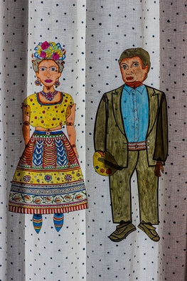 StudioMoya 'Frida and Diego' Contemporary Leather Puppet Wall Hanging