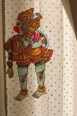 StudioMoya 'Hanuman' Traditional Leather Puppet Wall Hanging