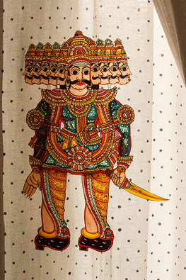 StudioMoya 'Raavan' Traditional Leather Puppet Wall Hanging
