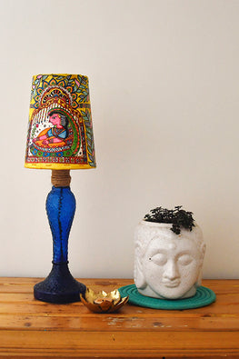 StudioMoya 'Palki' Hand-painted On Leather Lamp Shade
