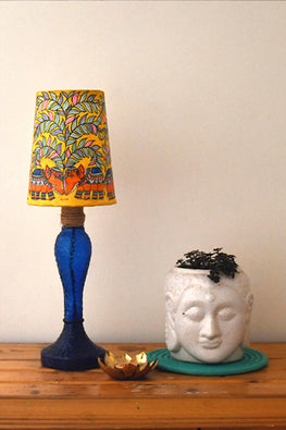 StudioMoya 'Elephants' Hand-painted On Leather Lamp Shade