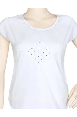 "Okhai ""Morning Glory"" White Top"