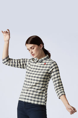 Okhai 'Pecan' Pure Cotton Checks Top