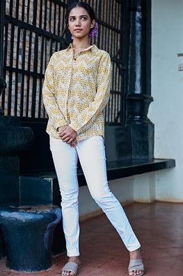 Okhai 'Canary' Pure Cotton Printed Shirt