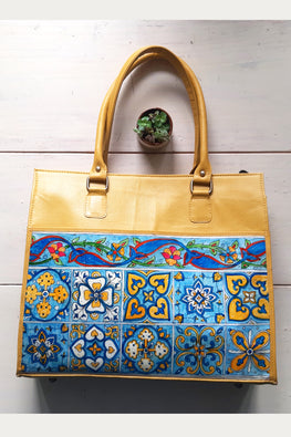 Studio Moya-LAPTOP TOTE/TILE COLLAGE