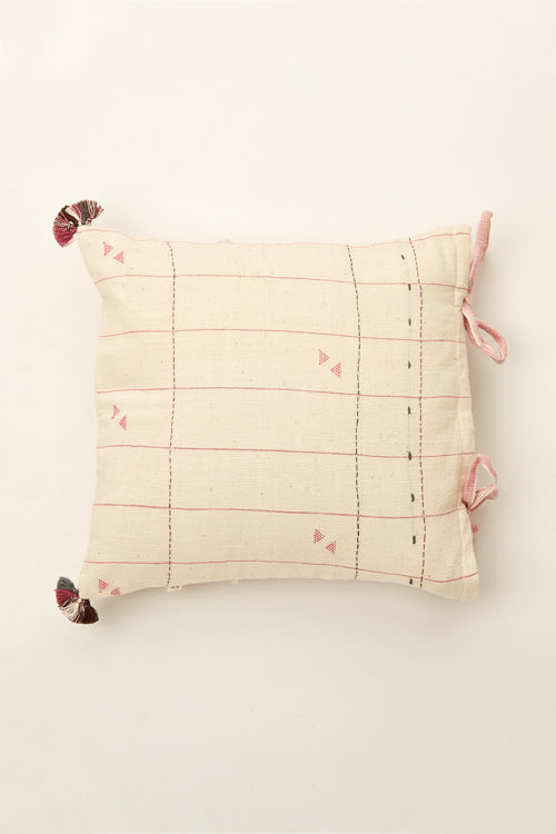Pink kala cotton cushion 12 by 12