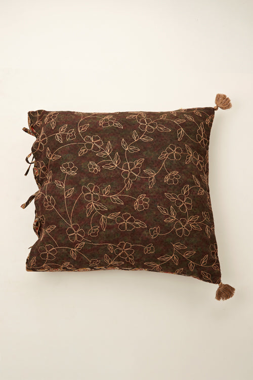 Lotus Veda Ajrakh cushion 18 by 18-4