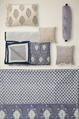 handblock printed Double bed set of 9