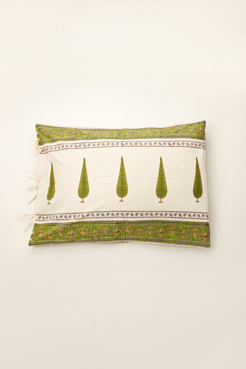 handblock printed king bed set of 9