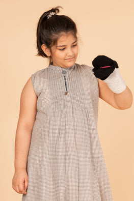 LVKID-14 Madras malmal sleeveless dress
