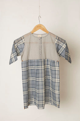 LVKID-15 Empire madras dress