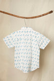 LVKID-18 Flamingo block print boy's shirt