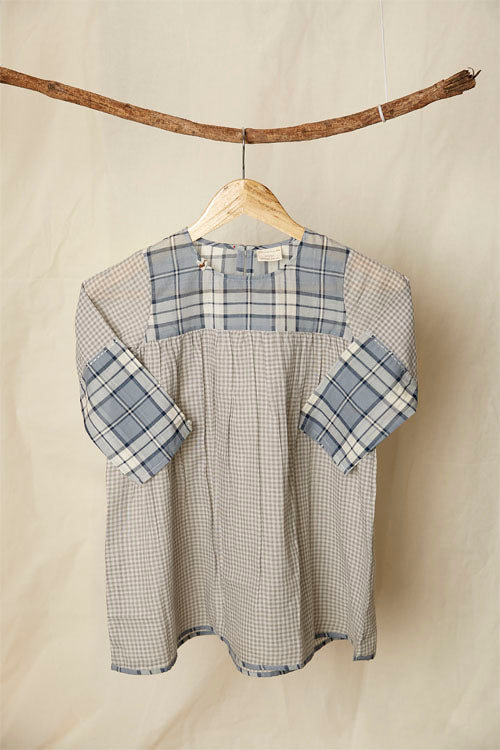 LVKID-24 Madras multi checks dress
