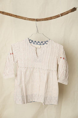 LVKID-2 Gingham checks Handwoven Cotton dress