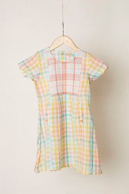LVKID-8 Candy cotton madras dress