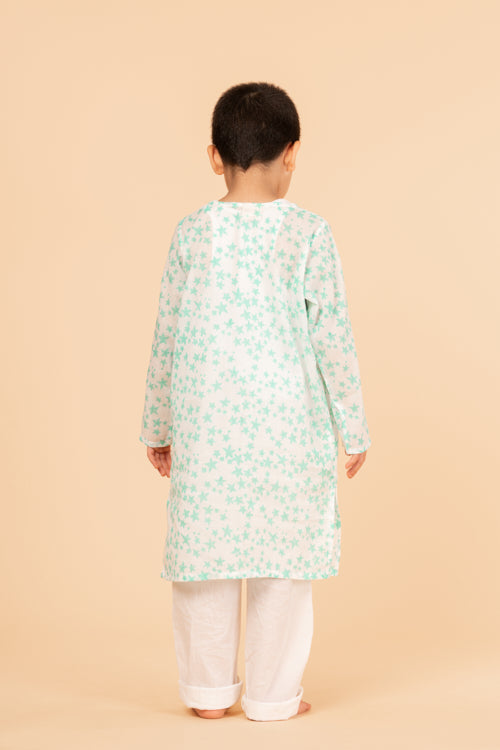 Lotus Veda Green Star Pure Cotton Kids Night Suit Set Online