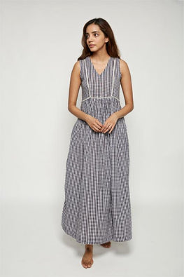 LVLILA 29 Sleeveless Madras Check Cotton Dress For Women Online