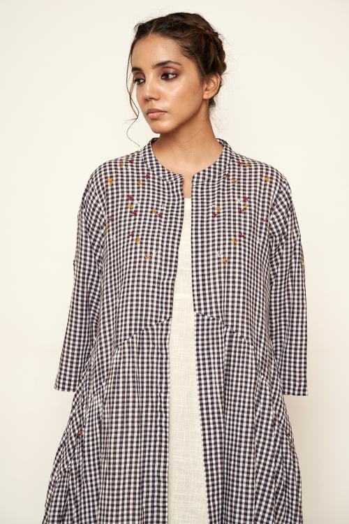 LVLILA-35 Madras checks jacket