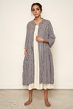 LVLILA Madras Checks Long Jacket For Women Online