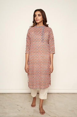 LVLILA 50 Hand Block Print Kurti For Women Online