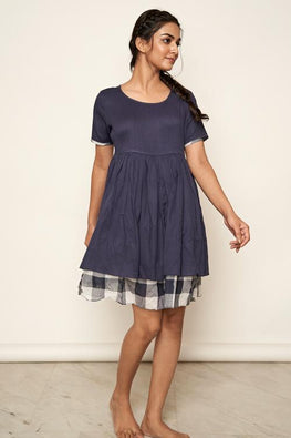 LVLILA 54 Indigo Cotton Moss Dress For Women Online