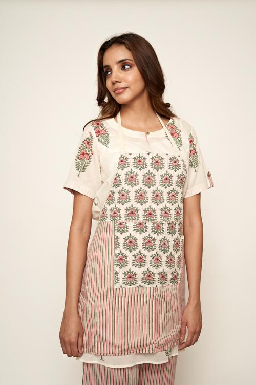 LVLILA 64 Mughal Hand Block Printed Kitchen Dress For Women Online