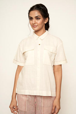 LVLILA-74 Off-white malkha shirt
