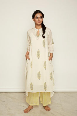 LVLILA 33 Hand Block Print High Low Kurti For Women Online