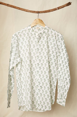 LVMAHI-3 Cat hand block print shirt