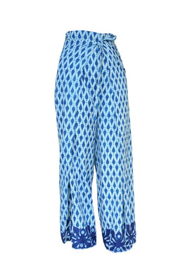 "Okhai ""Global Indigo"" Applique Work Wrap Pant"